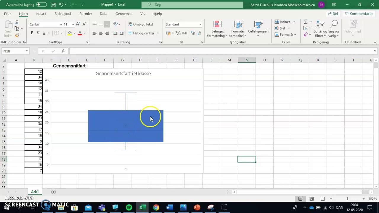 Lav et Boksplot i Excel