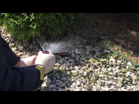 Регулировка сплинкера для полива