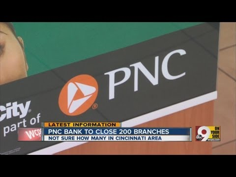 PNC bank to close 200 branches nationwide
