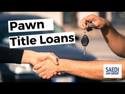 Title Pawn Loans In Bankruptcy: How Are They Treated?