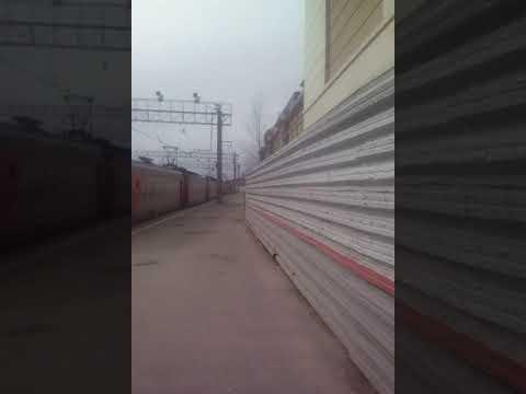 Санкт-Петербург. Московский вокзал. Отправился электропоезд на тосно