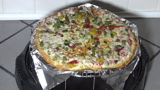 Cauliflower Crust Pizza From Frozen, NuWave Oven Instructions