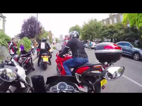 BikersUnited Protest Against UK Motorcycle Crime... from the driver seat