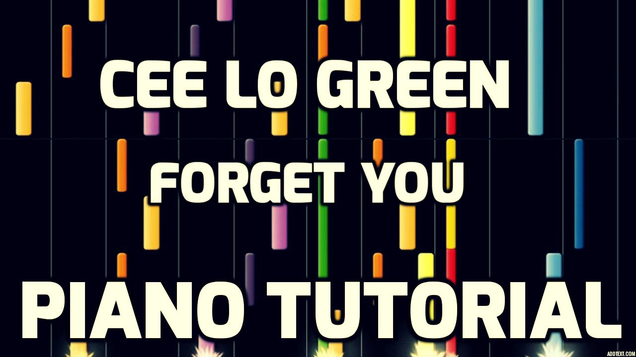 Piano tutorial cee lo green forget you youtube piano tutorial cee lo green forget you hexwebz Images