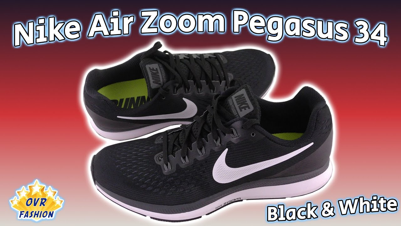 99a200136cd5c Nike Air Zoom Pegasus 34 Review (Black   White) - YouTube