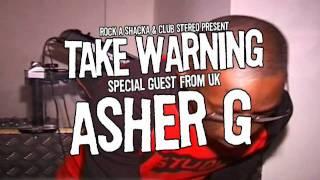 [ Take Warning ] Asher G -Rock Steady Daddy- 2/18(Fri)@Club Stereo 2/19(Sat)@Star Lounge