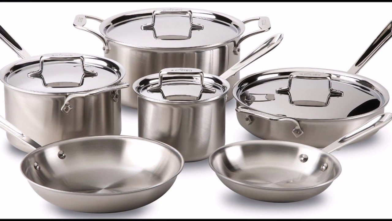 allclad bd005710r d5 on sale at best price brushed stainless steel 5ply bonded cookware set