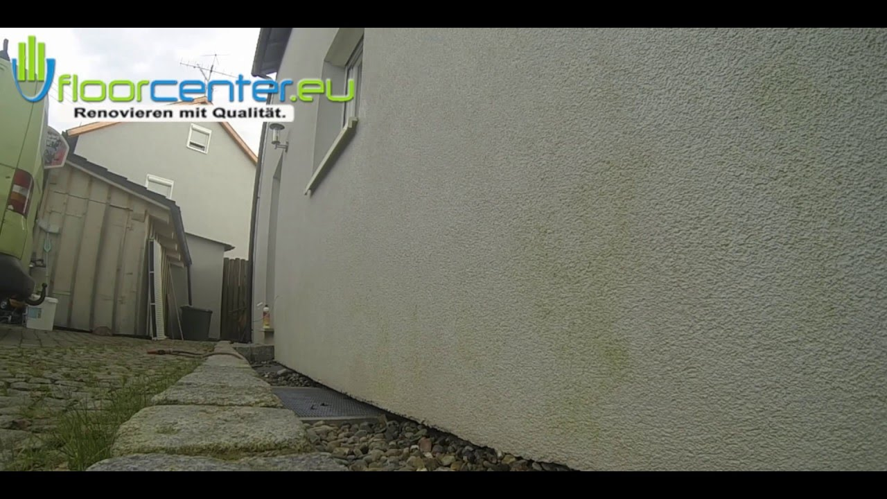 Fassade Reinigen Hausmittel moos entfernen fassade