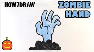 How to Draw a Zombie Hand - Halloween Drawings