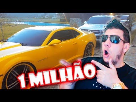 GASTEI R$ 1 MILHÃO EM CARROS