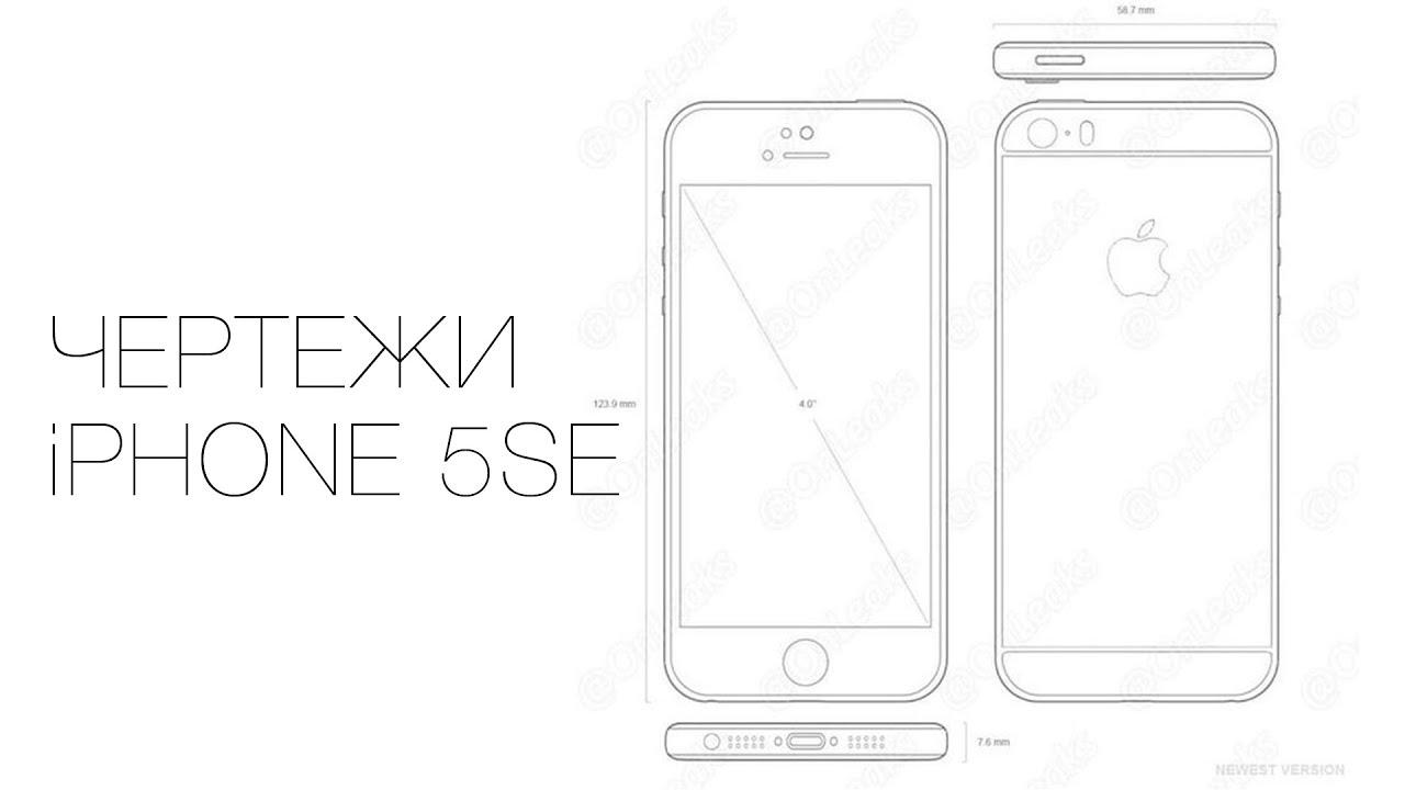 Размеры айфона се картинки