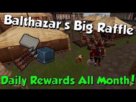 Balthazar's Big Raffle [Runescape 3] Daily Rewards all Month - Good Luck!