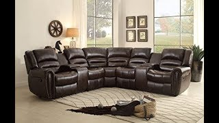 Reclining Sectional Sofas with Cup Holders