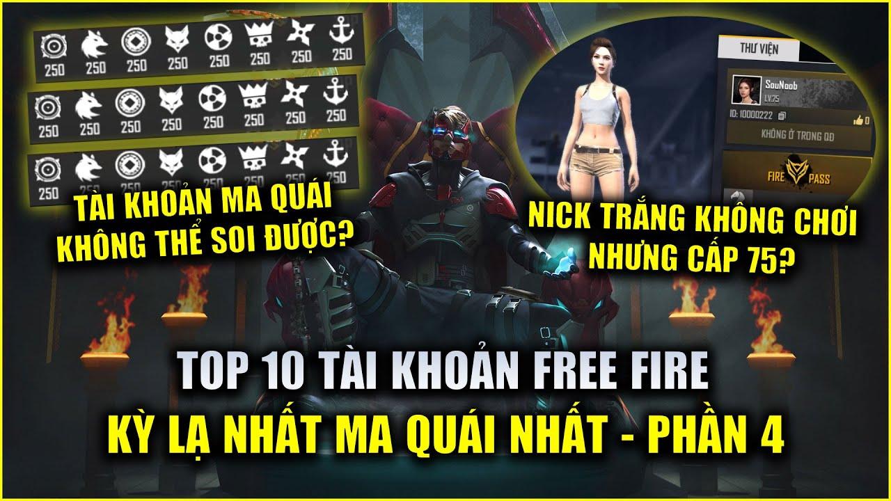 Free Fire | TOP 10 Tài Khoản Kỳ Lạ Độc Đáo Quái Chiêu Nhất Thế Giới - PHẦN 4 | Rikaki Gaming