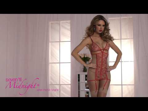 A La Rose Nude Mesh And Red Chemise