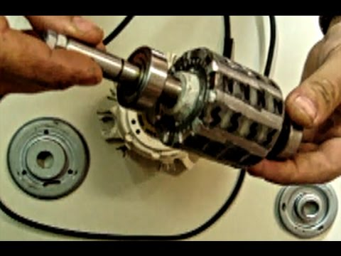 convert ac induction motor to a generator youtube