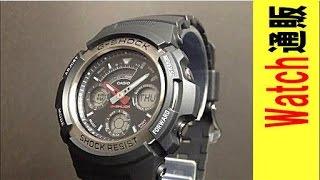 カシオ腕時計gショック casio g shock アナログ デジタルコンビネーション aw 590 1ajfの動画