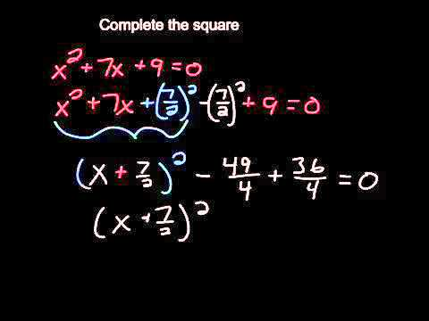 Complete The Square Easy Example Youtube