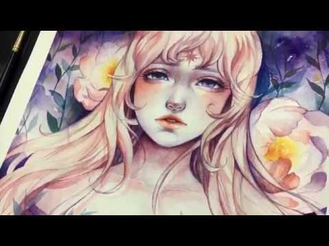 Lady Amalthea | Watercolor Timelapse