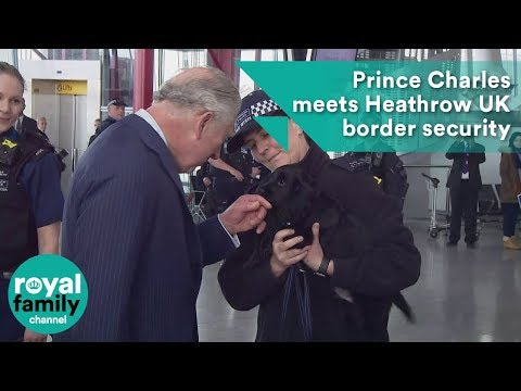 Prince Charles meets Heathrow UK border security