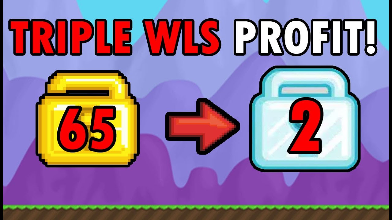 EASY TRIPLE WLS PROFIT NO FARMING! HOW TO GET RICH FAST IN 2020 | Growtopia