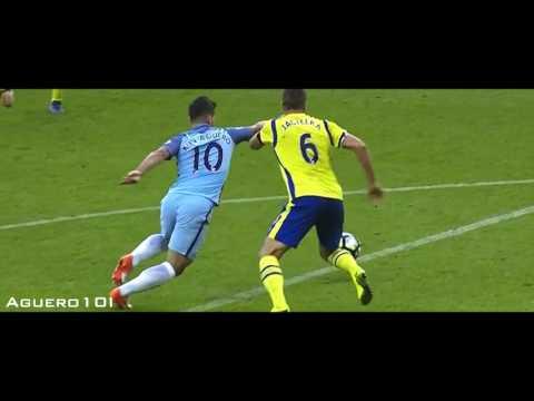 Sergio Aguero vs Everton (Home) 2016-17 HD 720p