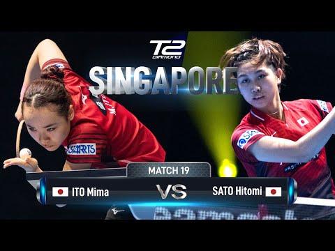 Mima Ito Vs Hitomi Sato  T2 Diamond 2019 Singapore (QF)