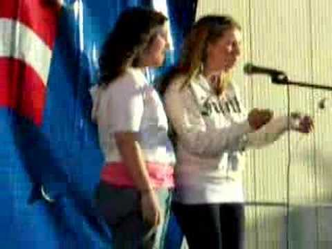 Beverley Mitchell and I singing When You Say Nothing At All
