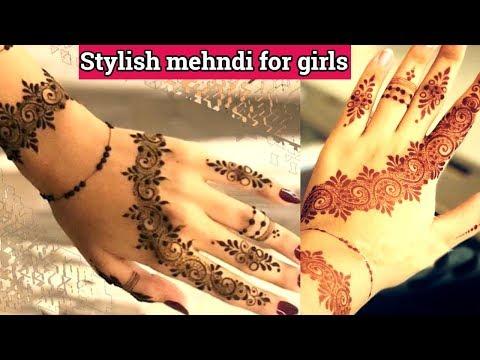 सबसे आसान मेहंदी लड़कियों के लिए|Stylish mehndi design 2018|Latest stylish mehndi design|Easy mehndi