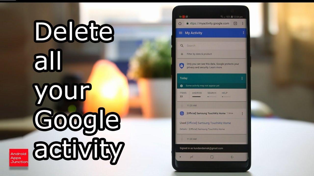 my activity google delete