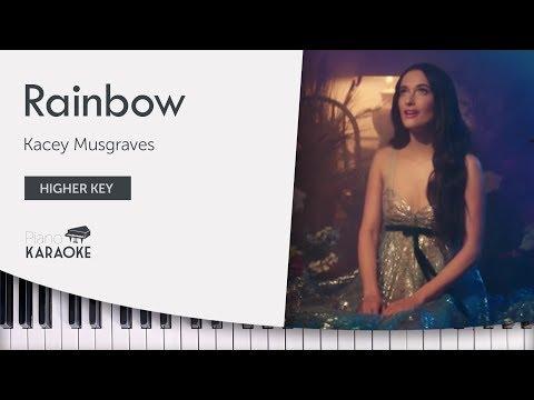 Kacey Musgraves - Rainbow Karaoke (Piano Instrumental) Higher Key