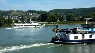 A beautiful cruise on the Rhine in Germany on a beautiful summer day