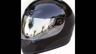 Black Motorcycle Helmets