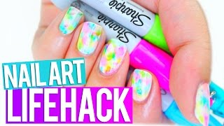sharpie nail art hack every girl should know