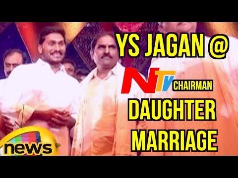 YS Jagan Attends NTV Chairman Narendra Choudary's Daughter Rachana Marriage | Shamshabad | MangoNews