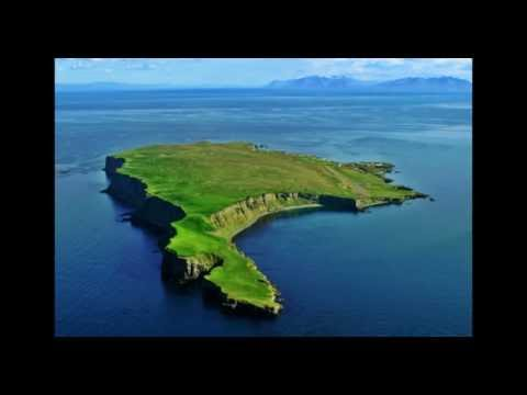 Grímsey arctic circle. Iceland