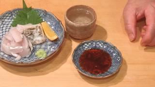 《タチウオ(太刀魚)の捌きと刺身、焼き物【2】》・・・・大和の 和の料理《刺身》