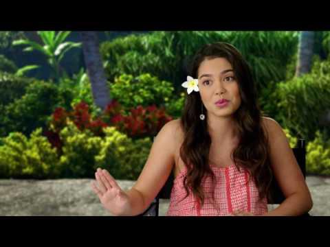 """Moana: Auli'i Cravalho """"Moana"""" Behind the Scenes Movie Interview"""
