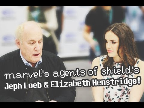 Jeph Loeb & Elizabeth Henstridge Marvel's Agents of SHIELD at Wondercon 2016!