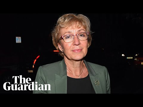 Andrea Leadsom after resigning from cabinet: 'It's been a really tough day'