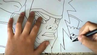 HOW TO DRAW JIRAIYA SENNIN MODE