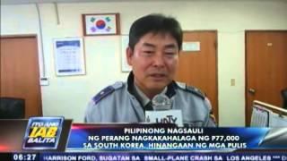 Pinoy na nagsauli ng napulot ng sobre na may mga cheque sa South Korea, hinangaan ng mga pulis