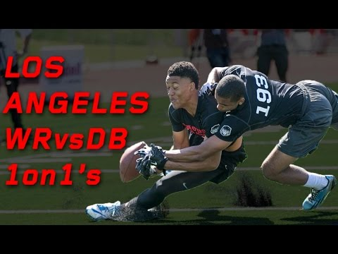 Los Angeles WR vs DB 1 on 1's   Nike Football's The Opening Regionals