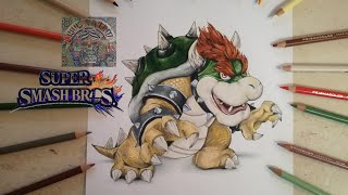 COMO DIBUJAR A BOWSER - SUPER SMASH BROS / how to draw bowser - super smash bros