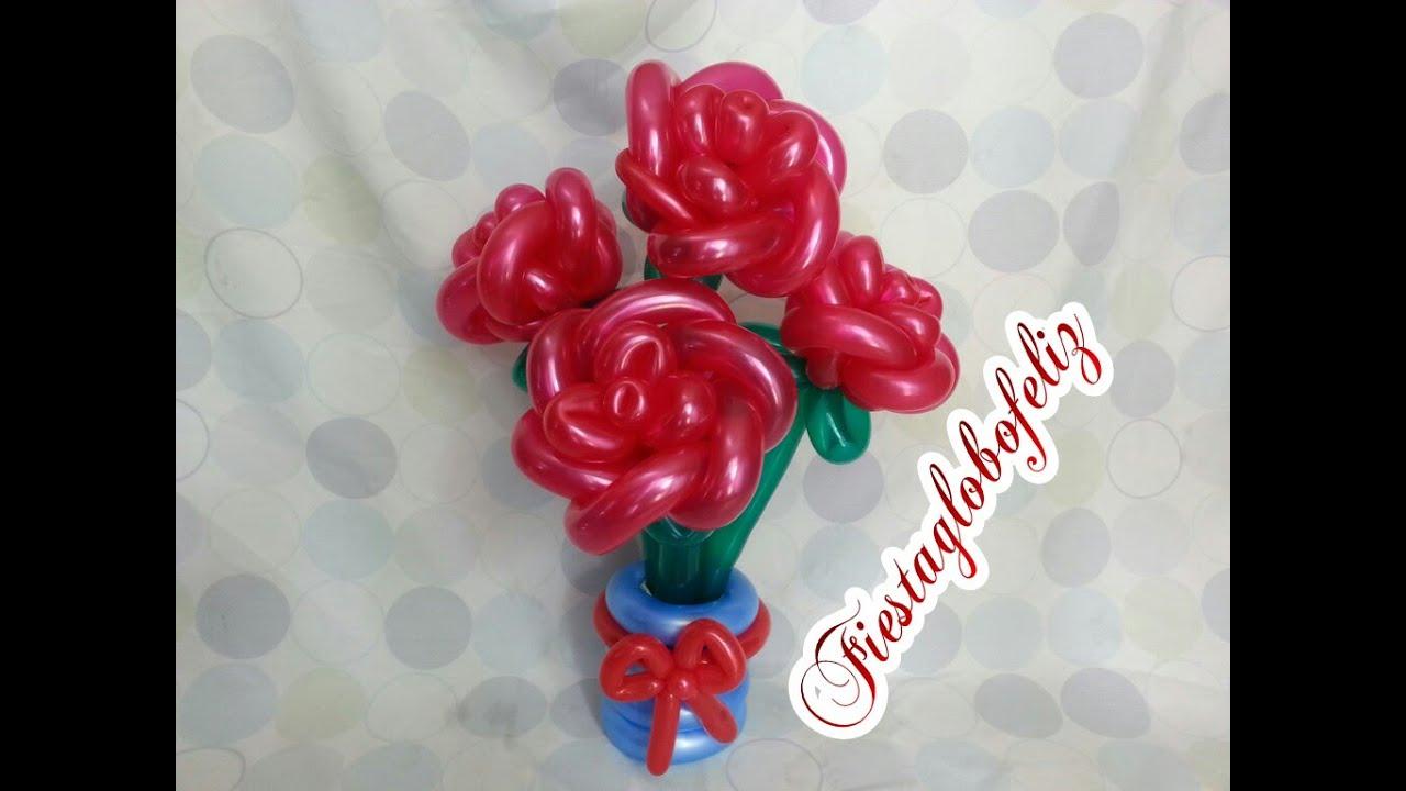 Como hacer rosas grandes con globos youtube - Como hacer figuras con globos ...