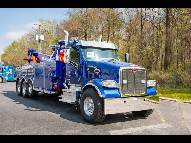 2019 Viper Blue Peterbilt 567 & Jerr-Dan 50-Ton Heavy Duty Wrecker – Stock#9845N