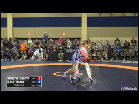 55 Con of 8-2 - Rebekah Cordova (Wayland Baptist University) vs. Deanna Betterman (Sunkist Kids WC)