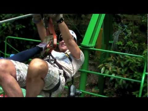 Zip-Line Arenal Costa Rica Sky Adventures May 2011 Ziplining