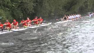 Girton M2, Trinity Hall M2 and Lady Margaret M3, May Bumps 2014 slow motion [oarstack]