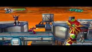 [HD] Megaman X7 - LAVA FACTORY / FLAME HYENARD  [100%] No Damage